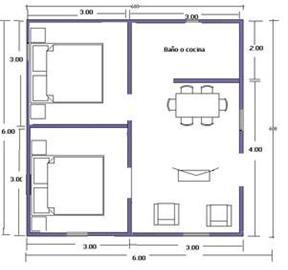 Planos de casas 6x6 for Planos para remodelar mi casa