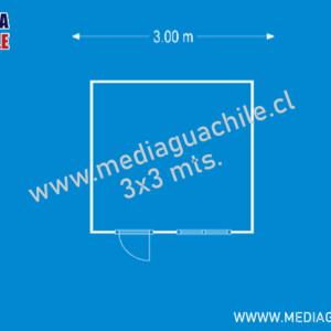 MEDIAGUA DE OSB FORRADA 9 M2 3X3
