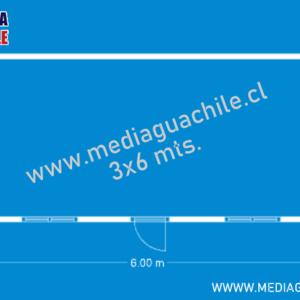MEDIAGUA BÁSICA TABLA DE PINO TINGLADO 3X6